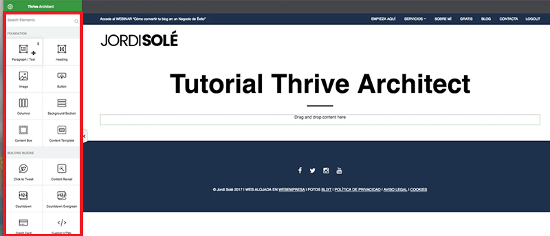 Menu-Thrive-Architect