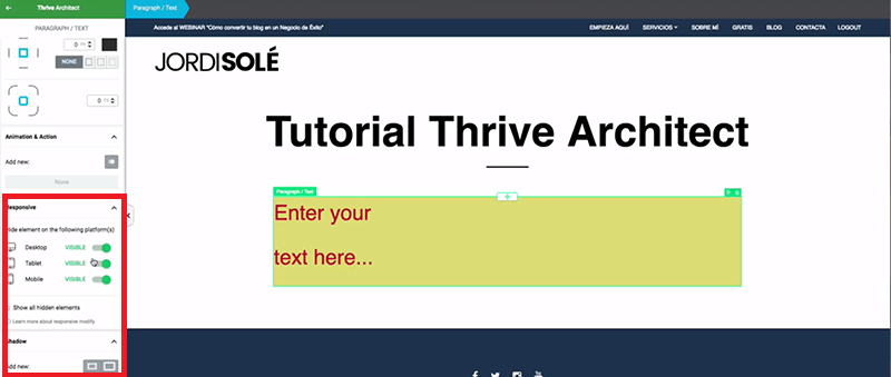 Responsive-Thrive-Architect