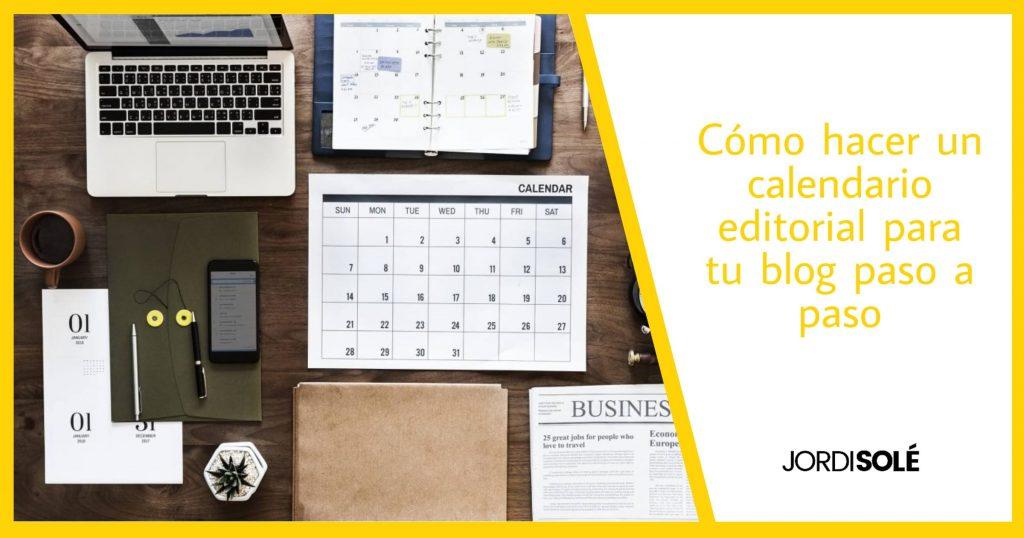 como crear calendario editorial