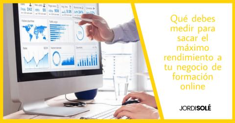métricas rendimiento formación online